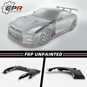 For Nissan R35 Gtr Oe Frp Front Fender With Fender Air Vents Mud Guards Kits