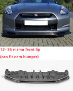 For Nissan Gtr R35 12-16 Nsmo Style Carbon Fiber Front Bumper Lip Bar Wing