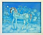 Salvador Dali Signed Cheval Allegre Unicorn Hand Signed And Numbered 130/300