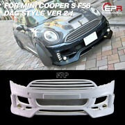 Frp Dag Style Front Bumper With Fog Light Cover For Mini Cooper S F56 Ver 2.1