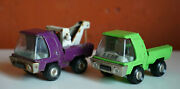 Mexican Vintage Tin Crane Trucks Lili Ledy Made In Mexico 1960s