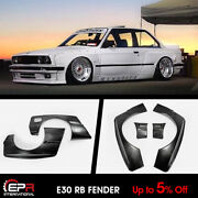 For Bmw E30 M3 Only Rb Style Wide Body Front And Rear Fender Flares Kits 4pcs