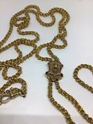 Stunning Antique Victorian 9 K. Y. G. Longuard Chain And Slide