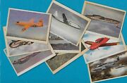 1950's Oak Manufacturing Co. Airplane Trading Cards ... Lot Of 9 Cards