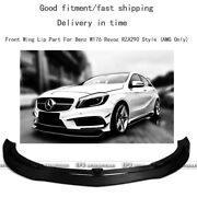 For Benz W176 Rza290 Rev Style Amgonly Carbon Fiber Front Bumper Wing Lip