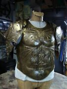 18 Guage Brass Medieval Fantasy Game Of Thrones Cuirass W Pauldrons Braestplate