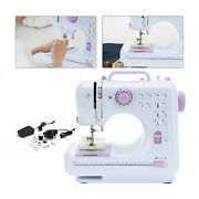 Electric Sewing Machine Portable Sewing 2 Speed Foot Pedal Led 12 Stitches Diy