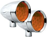 Adjure Ns11919-2 Beacon 1 Flamed 2-wire Led Bullet Lights Amber New In Package