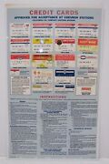 1960s Chevron Credit Cards Sign Gas Station Repair Shop Sohio Imperial Fina