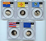 2008 S 5 Silver State Quarter Pcgs Pr69 Graded Proof Coin 25 Cent Set C