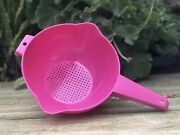 Tupperware Colander Strainer W/ Handle Pink 8 Cups New Free Shipping