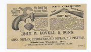 1880and039s-1890and039s Royal Top Spinning Toy Cap Pistol And Shotgun Gun Dealer Ad Card