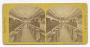 1860and039s A. E. Alden Photograph Rooms Banners Providence R.i. Stereoview