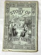 The Story Of The Greatest Nations Magazine 1909 27 Good Condition Beautiful
