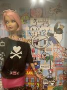 Tokidoki Barbie Signed Simone Legno Inner Pic And Neck2011 First In Series Rare