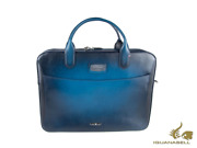 S.t. Dupont Atelier Document Case Leather Midnight Blue Zip 191411