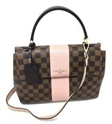 Louis Vuitton Bond Street Handbag Damier Ebene Magnolia Pink Bag Sold Out