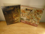 2 New Springbok Cat Puzzles Misty 500 Piece - Cats, Cats, Cats 1000 Piece Sealed