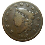 Large Cent/penny 1833 Newcomb 3 Choice Mid Grade