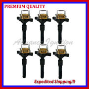 6pc Ignition Coil Ebm321 12131748018 12 13 1 748 018 12131404309 12 13 1 404 309