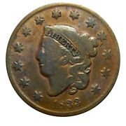 Large Cent/penny 1833 Newcomb 6 Late Die State