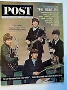 The Beatles On The Front Cover Vintage 60and039s Magazine - Saturday Evening Post Ex