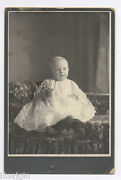 1910-1920's Cabinet Photo, Kid Holds A. C. Williams Iron Toy Lion Still Bank
