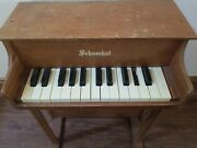 Schoenhut Childs Piano Vintage 25 Key Wood Upright Made In Usa