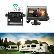 Wireless Magnetic Trailer Hitch Backup Camera Rear View System+4.3 Lcd Monitor