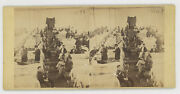 1860and039s Stereoview Civil War Union Hospital Doctors Patients American Flags
