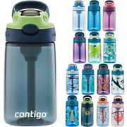 Contigo Kidand039s 14 Oz. Autospout Straw Water Bottle With Easy-clean Lid