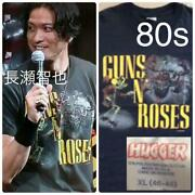 Guns Nandrsquo Roses 1980and039s Vintage Tour T-shirt Black Size Xl From Japan F/s