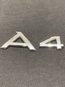 A4 Badge Fit Audi Rear Back Trunk Emblem Nameplate Letters Numbers Word Name