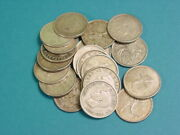 5.00 Face Value 20 Ct. 80 Silver Canadian Quarters 1938-1964 80 Silver
