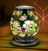 Electric 3d Touch Lamp Oil Burner Scented Aroma Wax Light Home Deco