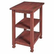 Alaterre Furniture Country Cottage 2-shelf End Table In Red Antique Finish