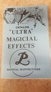 'ultra' Magical Effects Catalog Petrie-lewis Magical Manufacturer 1950s
