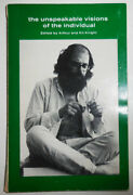 Arthur Beats Knight / Unspeakable Visions Of The Individual Signed 1st Ed 1980