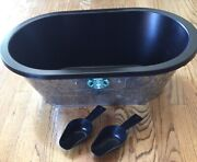 Starbucks Galvanized Metal Beverage Ice Tub With Liner Party Ice Bucket Coffee