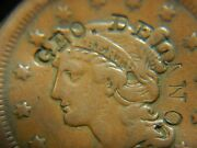 Large Cent/penny Counterstamped 1850 Great Example