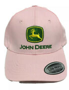 New With Stickers John Deere Womenandrsquos Strap Back Pink Farmer Hat Cap