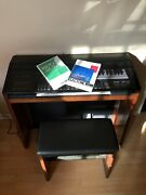 Vintage Yamaha Electone Mr-500t Organ With Bench And Manuals