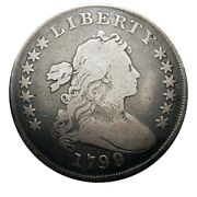 Draped Bust Silver Dollar 1799 Overdate 9/8 Collector Coin