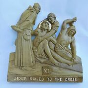 New Modern Size Station Of The Cross In A Gold And Antique Finish Jesus