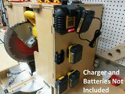 Wall Mount For Dewalt Dcb1106 Charger With Optional 20v Max Battery Mounts