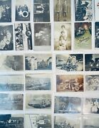 80 Antique 1900s Postcards Real Picture Rppc Ww1 Christmas New Years Farm City