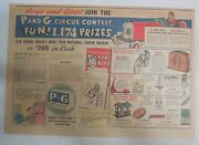 Proctor And Gamble Ad P And G Circus Contest From 1941 Size 11 X 15 Inches