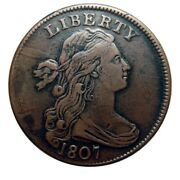 Large Cent/penny 1807 Comet Amazing High Grade Example