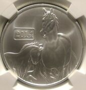 2014 Tokelau Year Of The Horse Ngc Ms70