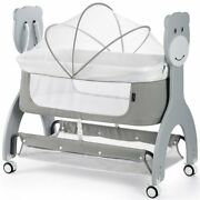 Dream On Me Cub Compact Portable Bassinet In Gray